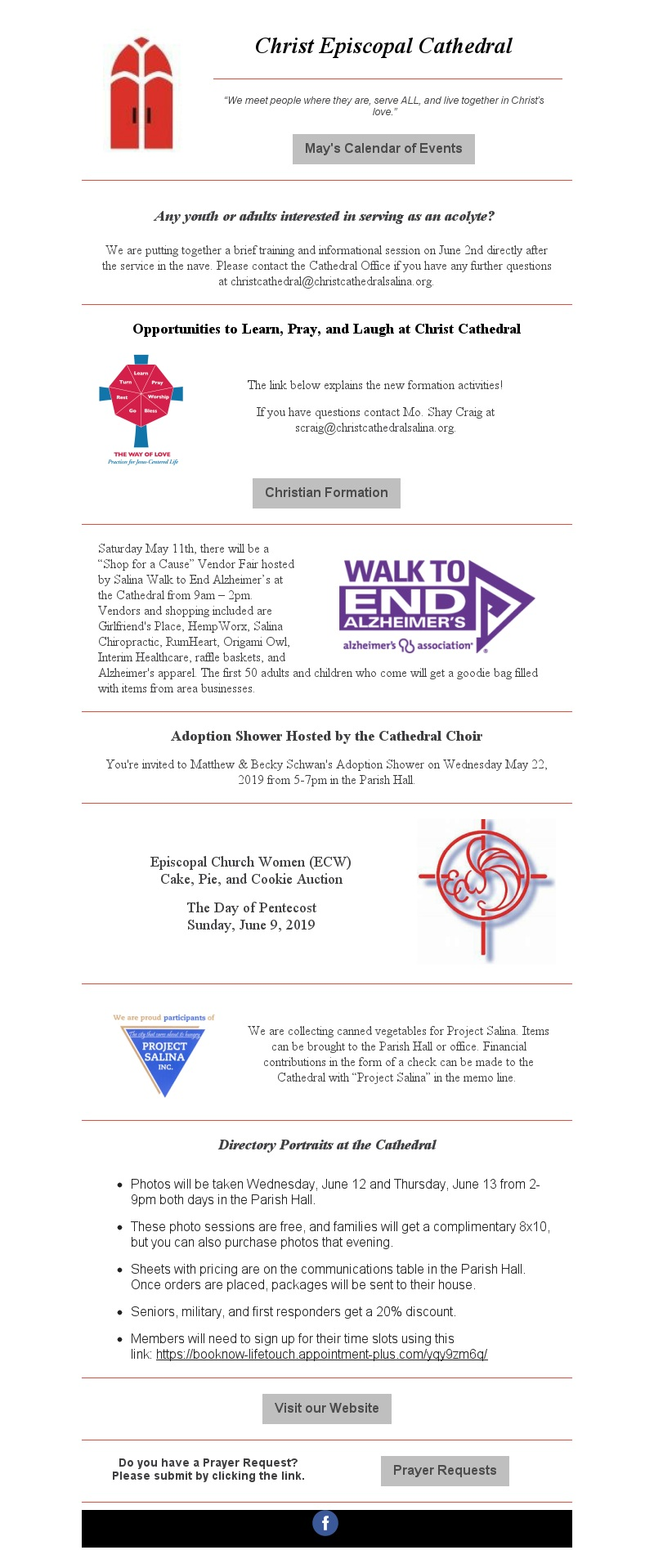 May 10, 2019 Newsletter